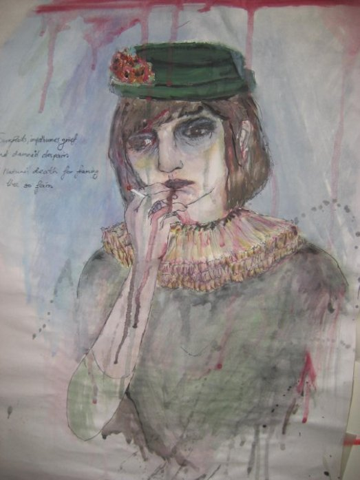 a portrait Revee painted of me in 2009