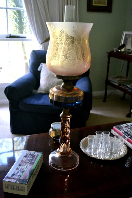 This antique oil lamp is AMAZE
